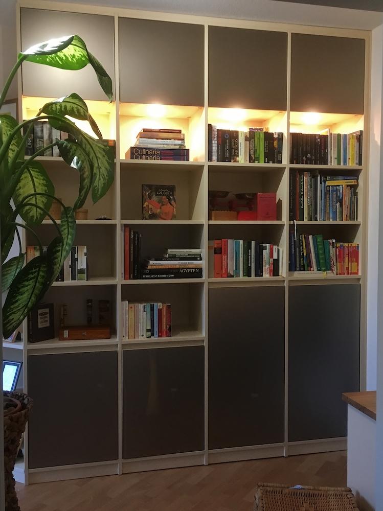 Bücherregal Spiegel satiniert1